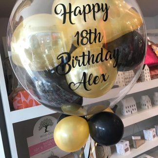Personalised balloon filled